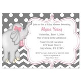 Baby elephant shower Invitations & Announcements