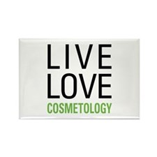 Live Love Cosmetology Rectangle Magnet (10 pack)