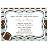 Football baby shower invitations 5 x 7 Flat Cards