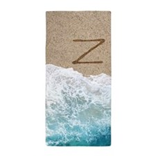 LETTERS IN SAND Z Beach Towel