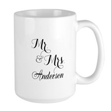 Mr. & Mrs. Personalized Monogrammed Mug