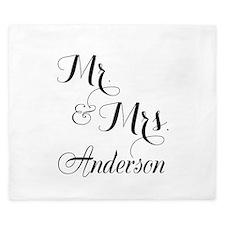 Mr. & Mrs. Personalized Monogrammed King Duvet