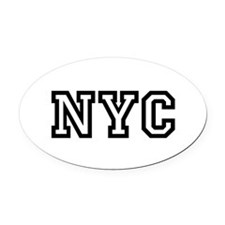 NYC Oval Car Magnet