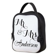 Mr and Mrs Personalized Monogrammed Neoprene Lunch