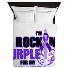 RockinPurpleForGrandma Queen Duvet
