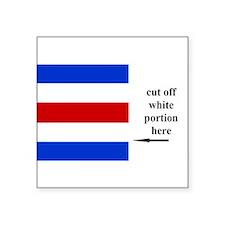 US Naval Flag Code Charlie Sticker