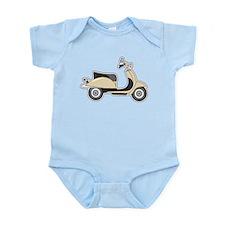 Cute Retro Scooter Sand Infant Bodysuit