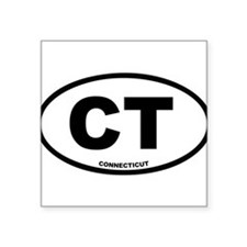 CT Connecticut Euro Oval Sticker
