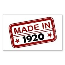Stamped Made In 1920 Rectangle Decal