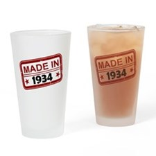 Stamped Made In 1934 Drinking Glass