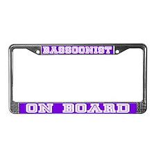 Bassoonist License Plate Frame