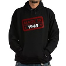 Stamped Made In 1949 Dark Hoodie