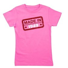 Stamped Made In 1949 Girl's Dark Tee