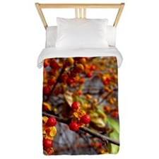 Fire Berries and Vines Twin Duvet