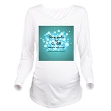 Unique C. diff Long Sleeve Maternity T-Shirt
