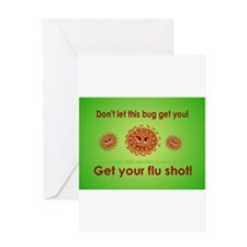 2-Flu Magnet green.png Greeting Card