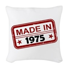 Stamped Made In 1975 Woven Throw Pillow