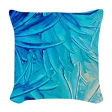 WaterFlowersrug Woven Throw Pillow