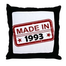 Stamped Made In 1993 Throw Pillow