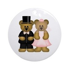 Wedding Bears Ornament (Round)