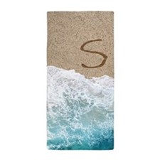 LETTERS IN SAND S Beach Towel