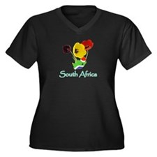SA Goodies Women's Plus Size V-Neck Dark T-Shirt