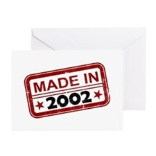 Stamped Made In 2002 Greeting Cards (10 pack)