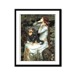 Ophelia & Cavalier (BT) Framed Panel Print