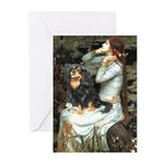 Ophelia & Cavalier (BT) Greeting Cards (Pk of 10)