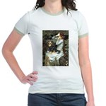 Ophelia & Cavalier (BT) Jr. Ringer T-Shirt