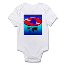 Antarctica Dive Flag Infant Bodysuit