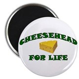 Cheesehead For Life 2.25&quot; Magnet (10 pack)