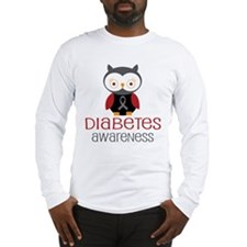 Diabetes Awareness Owl Long Sleeve T-Shirt