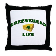 "Cheesehead ""4"" Life Throw Pillow"
