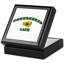 "Cheesehead ""4"" Life Keepsake Box"