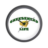"Cheesehead ""4"" Life Wall Clock"
