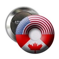 "USA - Canada 2.25"" Button (100 pack)"
