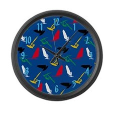 Windsurfing Large Wall Clock