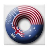 USA - Australia Tile Coaster