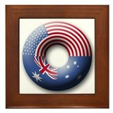 USA - Australia Framed Tile