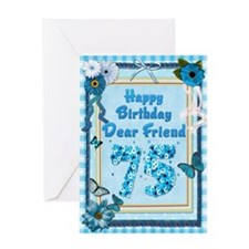 75th Birthday for a friend with a scrapbooking the