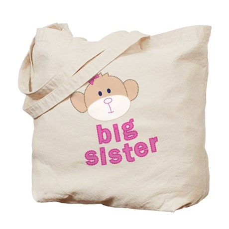 big sister monkey Tote Bag