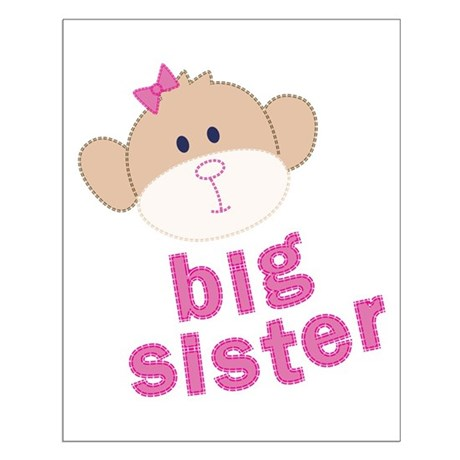 big sister monkey Small Poster