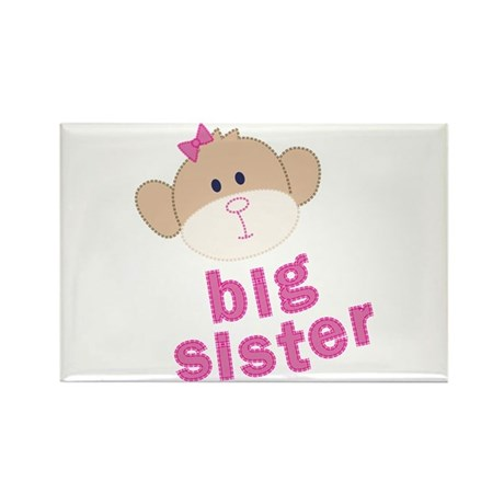 big sister monkey Rectangle Magnet