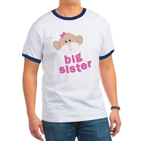 ADULT SIZES big sister monkey Ringer T