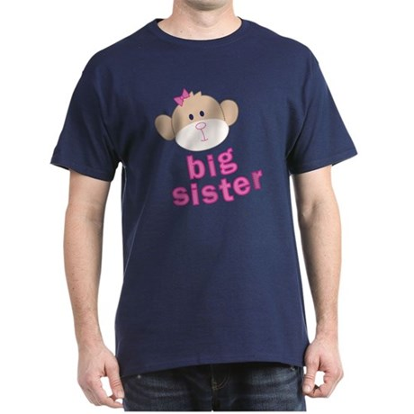 ADULT SIZES big sister monkey Dark T-Shirt