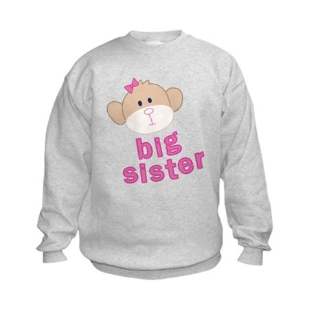 big sister monkey Kids Sweatshirt