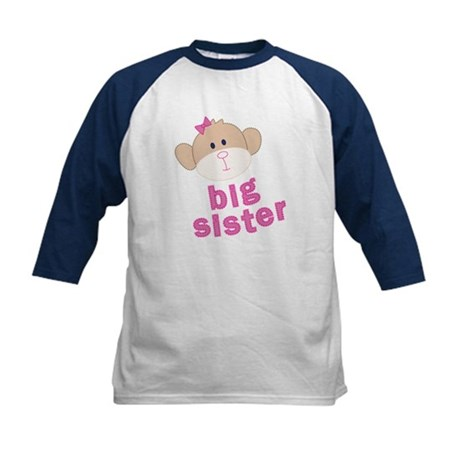 big sister monkey Kids Baseball Jersey
