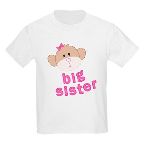 big sister monkey Kids Light T-Shirt