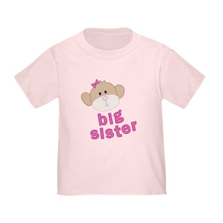 big sister monkey Toddler T-Shirt